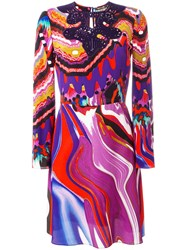 Roberto Cavalli Abstract Print Flared Dress