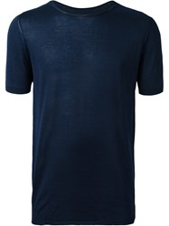 Roberto Collina Round Neck T Shirt Blue