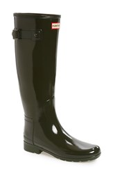Hunter Women's 'Original Refined' High Gloss Rain Boot Dark Olive