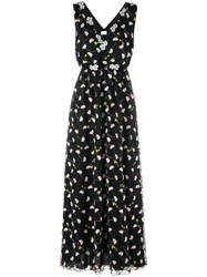 Giamba Floral Embroidered Dress Black