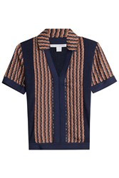 Diane Von Furstenberg Merino Wool And Silk Top Multicolor