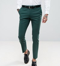 Noose And Monkey Super Skinny Suit Pants Green