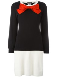 Boutique Moschino Bow Front Sweater Dress Black