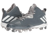 Adidas Wheelhouse 4 Mid Onix White Metallic Silver Men's Cleated Shoes Blue