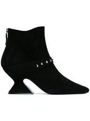 Dorateymur Radio 70 Suede Studded Boots Leather Suede Black