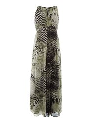 Episode Sleeveless Printed Maxi Dress Animal