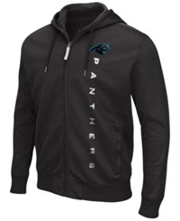 G3 Sports Men's Carolina Panthers Snap Full Zip Hoodie Black