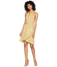Miss Me Open Back Floral Dress Yellow