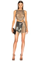 Fannie Schiavoni Mesh And Scale Dress In Metallics