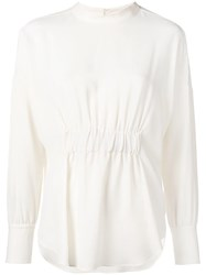 Glanshirt Ruched Blouse Nude And Neutrals