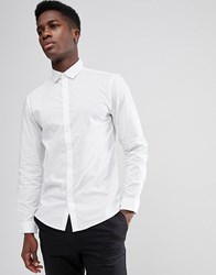 Selected Homme Slim Shirt With Pindot Bright White