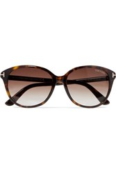 Tom Ford Cat Eye Tortoiseshell Acetate Sunglasses Brown