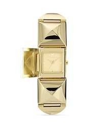 Vince Camuto Gold Tone Pyramid Cover Watch 25Mm Goldtone