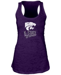 Blue 84 Women's Kansas State Wildcats Racerback Burnout Tank Top Purple