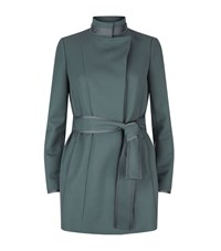 Reiss Lucy Belted Coat Female Green