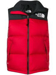 The North Face Padded High Neck Gilet Red