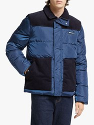 Scotch And Soda Mixed Puffer Jacket Worker Blue