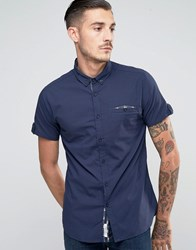 Lambretta Shirt With Short Sleeves Navy