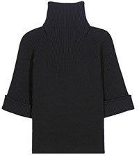 Red Valentino Wool Turtleneck Sweater Black