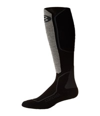 Icebreaker Ski Light Over The Calf 1 Pair Pack Oil Black Silver Crew Cut Socks Shoes