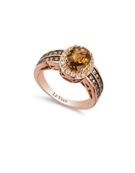 Le Vian 0.68Tcw Diamonds Quartz And 14K Rose Gold Chocolatier Ring