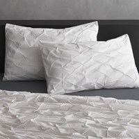 Cb2 Set Of 2 White Melyssa Standard Shams