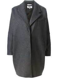 Mm6 Maison Margiela Oversized Coat Grey