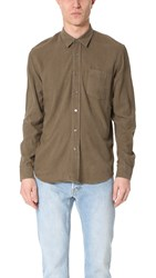 Our Legacy Silk Classic Shirt Olive