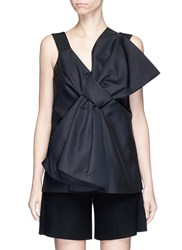 Victoria Beckham Oversized Bow Front Cady Top Black