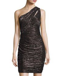 Cynthia Steffe Alexis One Shoulder Side Ruched Dress Black