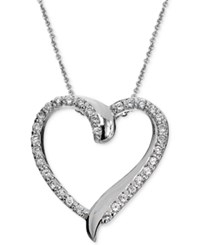 Giani Bernini Cubic Zirconia Heart Pendant Necklace In Sterling Silver Only At Macy's