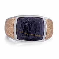 Lmj Grey Picture Agate Stone Ring