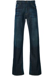 Armani Jeans Distressed Stitch Detail Men Cotton Spandex Elastane 30 Blue