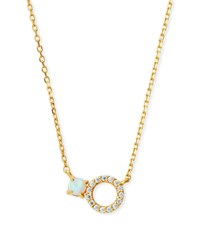 Tai Mini Opal Circle Pendant Necklace Gold