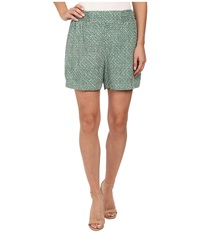 Vince Camuto Diamond Rhythm Ruched Culotte Shorts Dusty Olive Women's Shorts