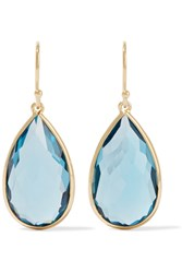 Ippolita Rock Candya Teardrop 18 Karat Gold Topaz Earrings
