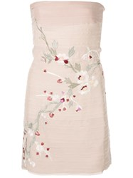 Alexis Asuka Embroidered Strapless Dress Pink