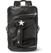 Givenchy Webbing Trimmed Leather Backpack Black
