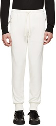 Dolce And Gabbana Ivory Crown Sweatpants