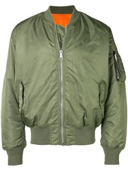 Alyx Zipped Bomber Jacket Green