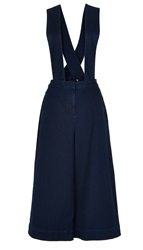 Tibi Denim Overalls With Removable Straps