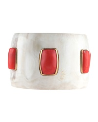 Ashley Pittman Samoni Coral Station Horn Bangle