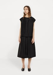 La Garconne Moderne Formal Slip Skirt Black