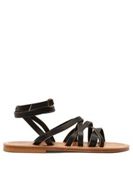 K.Jacques Aphrodite Leather Sandals Black