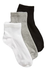 Treasure And Bond 3 Pack Favorite Ankle Socks White Multi