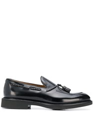 Doucal's Rope Detail Loafers Black