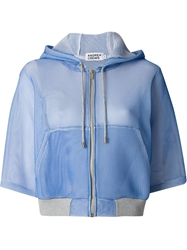 Andrea Crews Bell Sleeves Hooded Jacket Blue