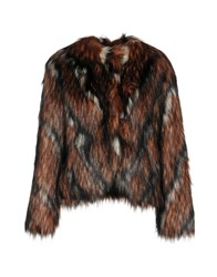Annarita N. Coats And Jackets Faux Furs