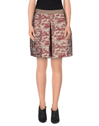 Jijil Skirts Mini Skirts Women Maroon