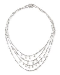 Leo Pizzo Round And Pear Shaped Diamond Bib Necklace